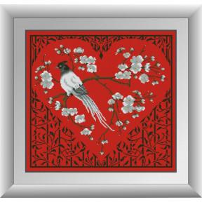 Набор для рисования камнями алмазная живопись Dream Art Сердце Осаки (квадратные, полная) 30973D