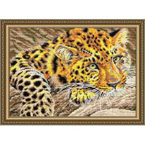 Набор для рисования камнями алмазная живопись ArtSolo Ягуар AT3013