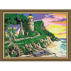Набор для рисования камнями алмазная живопись ArtSolo Маяк AT3014