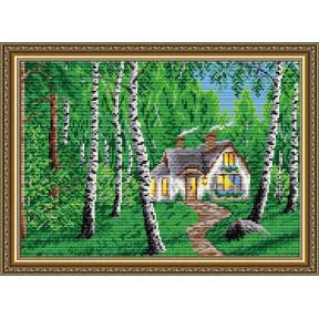 Набор для рисования камнями алмазная живопись ArtSolo Домик в лесу AT3015