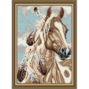 Набор для рисования камнями алмазная живопись ArtSolo Мустанг AT3022