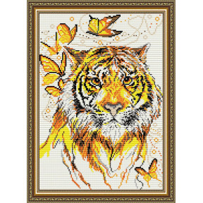 Набор для рисования камнями алмазная живопись ArtSolo Тигр AT3023