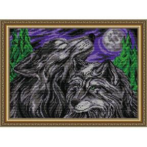 Набор для рисования камнями алмазная живопись ArtSolo Пара волков AT3025