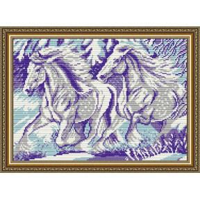 Набор для рисования камнями алмазная живопись ArtSolo Пара AT3027
