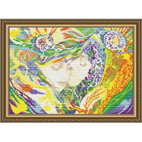 Набор для рисования камнями алмазная живопись ArtSolo Поцелуй AT3030