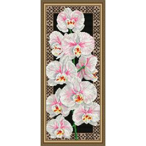 Набор для рисования камнями алмазная живопись ArtSolo Орхидеи AT3203