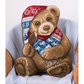 """Набор для вышивки крестом Panna ПД-1877 """"Подушка Мой Медвежонок"""""""