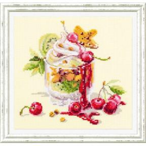 """Набор для вышивки крестом Чудесная игла """"Вишневый десерт"""" 120-081"""