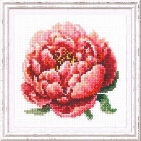 """Набор для вышивки крестом Чудесная игла """"Красный пион"""" 150-009"""