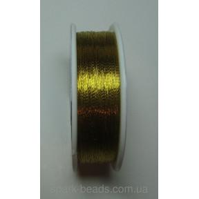 Металлизированная нить круглая Люрекс Аллюр 100-12 золото желтое яркое 100м