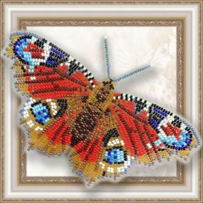 Набор для вышивки бисером бабочки на прозрачной основе Вдохновение Павлиний Глаз BGP-009