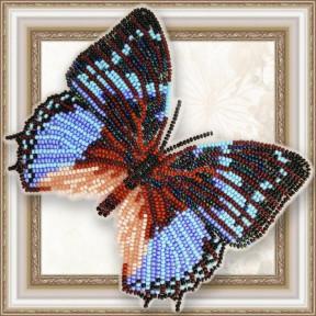 Набор для вышивки бисером бабочки на прозрачной основе Вдохновение Харакс Смарагдалис BGP-062