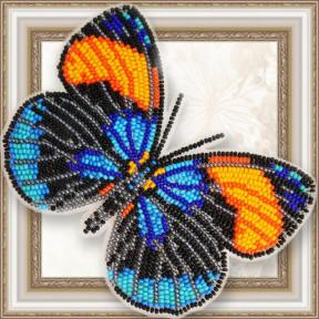Набор для вышивки бисером бабочки на прозрачной основе Вдохновение Калликора сапфирная BGP-069