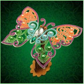 Набор для вышивки бисером бабочки на прозрачной основе Вдохновение 3d Ажурная бабочка BGP-083