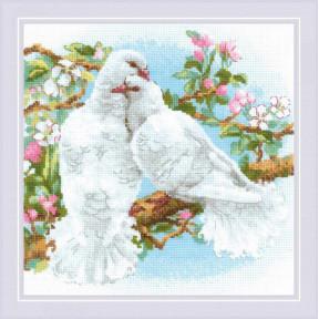 """Набор для вышивки крестом Риолис """"Белые голуби"""" 1856"""