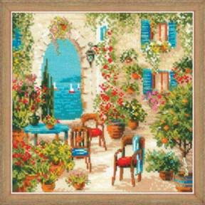 """Набор для вышивки крестом Риолис """"Южный дворик"""" 1863"""