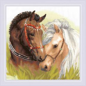"""Набор для вышивки крестом Риолис """"Пара лошадей"""" 1864"""