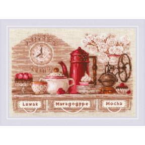 "Набор для вышивки крестом Риолис ""Coffee Time"" 1874"