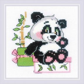 """Набор для вышивки крестом Риолис """"Панда-рочек"""" 1883"""