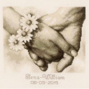 "Набор для вышивки крестом Vervaco Just Married ""Молодожены"" PN-0154752"