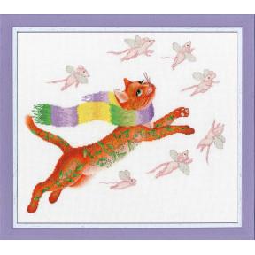 Набор для вышивки Золотое Руно Охота на розовых мышей ВК-055