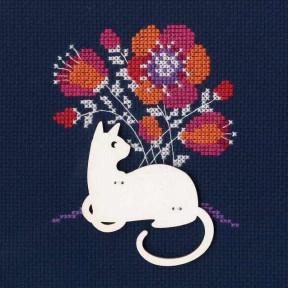 """Набор для вышивки крестиком RTO """"Кошка"""" CBE9003"""