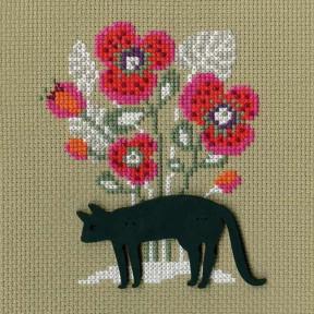 """Набор для вышивки крестиком RTO """"Кошка"""" CBE9004"""