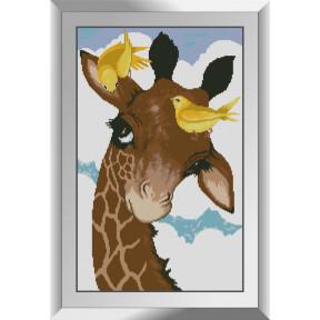 Набор алмазной живописи Dream Art Жирафчик с птичками 31544D