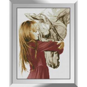Набор алмазной живописи Dream Art Девочка и лошадь 31547D фото