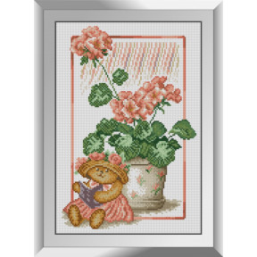 Набор алмазной живописи Dream Art Читающий мишка 31550D фото