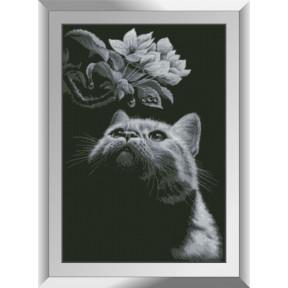 Набор алмазной живописи Dream Art Кот с магнолией 31551D фото