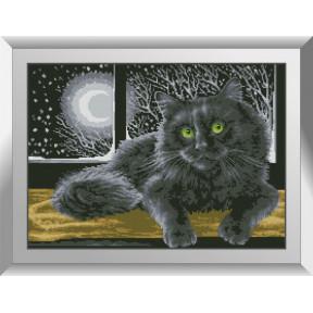 Набор алмазной живописи Dream Art Кот в ночи 31556D фото