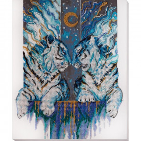 Набор для вышивки бисером на холсте Абрис Арт «Хранители севера» АВ-728