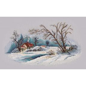 Набор для вышивки крестом Овен Зимний пейзаж 1300о