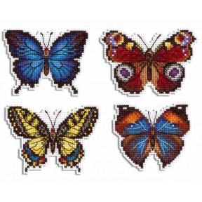 Набор для вышивки крестом МП Студия Яркие бабочки Р-485