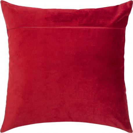 Обратная сторона наволочки для подушки Чарівниця Красное вино (бархат) VB-319