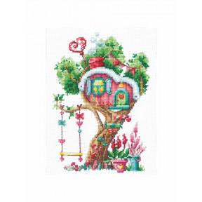Набор для вышивки Сделай Своими Руками Дома на деревьях. Сладкий Д-21