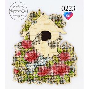 """Набор для вышивки крестом на деревянной основе ФрузелОк """"Идиллия 0223"""