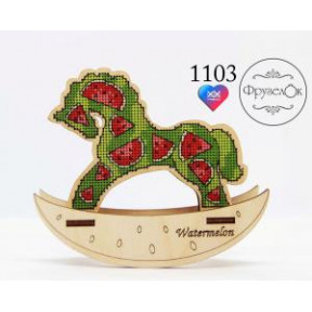 """Набор для вышивки крестом на деревянной основе ФрузелОк """"Арбуз"""" 1103"""
