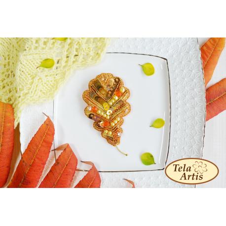 """Набор для вышивания бисером Tela Artis """"Дубовый лист"""" Б-104"""