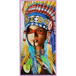 Набор для вышивания Картины Бисером Индейская девушка Р-419