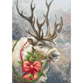 Набор для вышивки крестом Luca-S Канун Рождественский олень B598