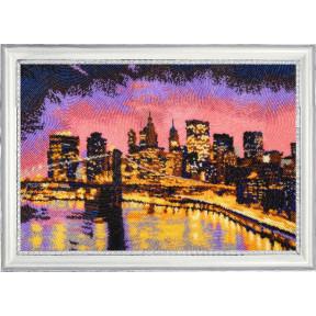 Набор для вышивания бисером Butterfly Ночной Нью-Йорк 398Б