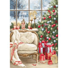 Набор для вышивки крестом Luca-S Рождественский дизайн интерьера B599