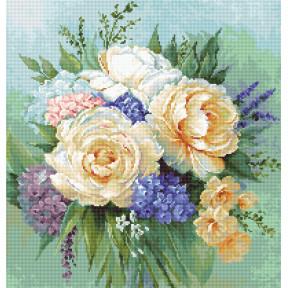 Набор для вышивки крестом Luca-S Букет цветов B2370