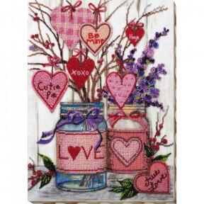 Набор для вышивки бисером на холсте Абрис Арт  «О любви» АВ-729