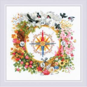 """Набор для вышивания крестом Риолис  """"Компас"""" 1881"""