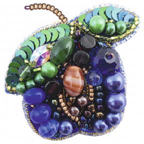 """Набор для изготовления броши Crystal Art  """"Слива"""" БП-277"""