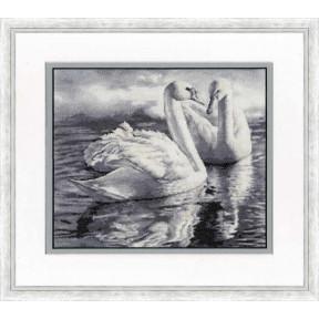 """Набор для вышивки крестом Золотое Руно """"Два лебедя"""" З-055 фото"""