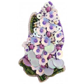 """Набор для изготовления броши Crystal Art  """"Сирень"""" БП-276"""